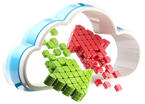 Cloud exchange representing data backup & business Continuity
